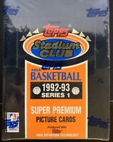 1992-93 Topps Stadium Club Series 1 FACTORY SEALED (2 Box Lot)