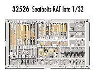 Eduard 1/32 cinturones de seguridad RAF tarde pre-pintado en color! # 32526