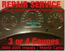 2000-05 GM Impala Monte Carlo 3 or 4 Instrument Gauge Cluster REPAIR SERVICE
