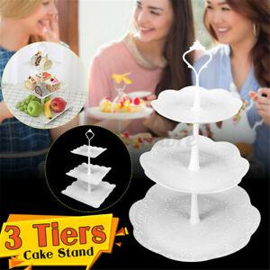 3 Tier Cupcake Stand Cake Dessert Birthday Party Wedding Square Round Display