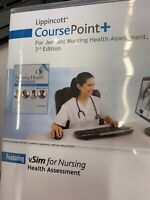 Lippincott Course Point + For Jensen: Nursing health Assessment 3rd Edition CODE