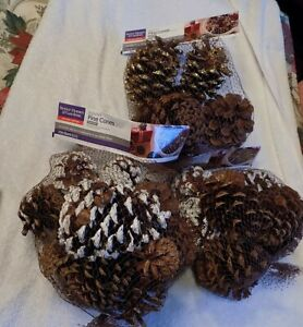 NEW: 5 Better Homes & Gardens Scented Pine Cones 3 Dry Quarts Holiday edition