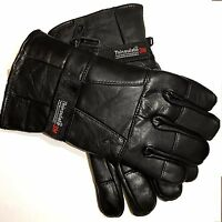 Men's Genuine Leather Gloves 100% Real Leather, 3M Thinsulate Soft Warm Stylish