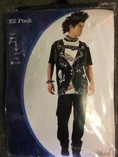 Men's Adult Size Small Punk Rocker 70s 80s Costume Fancy Dress T Shirt Cosplay