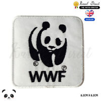 WWF World Wide Foundation Embroidered Iron On Sew On PatchBadge For Clothes Etc
