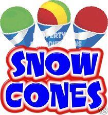 Snow Cones Decal 14 Shaved Ice Sno Kones Concession Food Truck Vinyl Sticker