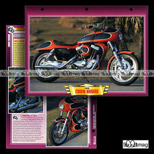 #065.07 Fiche Moto CORBIN WARBIRD 1200 Modèle 1996 (HARLEY FXR) Motorcycle Card