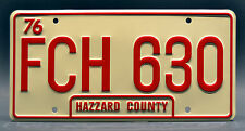 Dukes of Hazzard / Daisy Duke's 1980 Jeep / FCH 630 *STAMPED* Prop License Plate