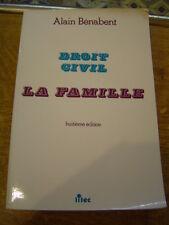 Bénabent Droit civil la famille Couple enfant l'entraide familiale veuvage