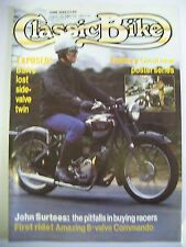 Classic Bike Magazine. No. 101. June, 1988. First ride! Amazing 8-valve Commando