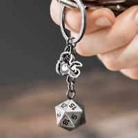 D20 Dice Keyring - Dungeons & Dragons - Brand New - D&D