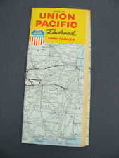 Union Pacific UP Railroad RR Public Timetable Apr 1963 RR PTT TT Schedule
