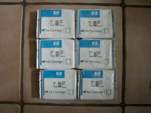 6x Tintenpatronen HP 11 C4836AE, C4837AE, C4838AE, Yellow, Cyan, Magenta