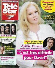 TELE STAR n°2162 10/03/2018  Sylvie Vartan/ Koh-lanta/ Debrandt/ Grey's Anatomy