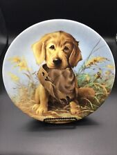 """Edwin M. Knowles China Co. """"Caught in the Act� 8.25 signed plate 18440D"""