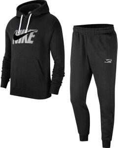 New Men's Nike Full Tracksuit Jogging Bottoms Sweat Pants Hoodie Hoody - Black