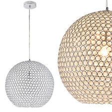 Lux.Pro Kristall Hängeleuchte Ø40 Cm Kugelleuchte Deckenlampe Zimmerlampe