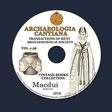 Archaeologia Cantiana,Transactions- Vintage Books 36 E-books PDF 1 DVD History