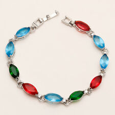 Mexican Multi Color Apatite Tennis Bracelet Women Handmade Fashion Jewelry Gifts