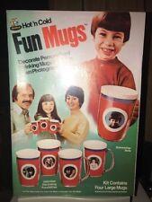 Vintage Rapco Hot N Cold Fun Mugs Thermos Kit NIB