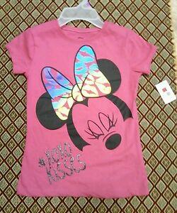 MINNIE MOUSE Pink Short Sleeve DISNEY Shirt Sz 6x Large Girls NWT Pink NEW #XOXO