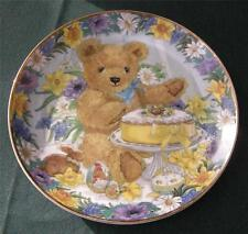 Sarah Bengry LtEd Plate: Teddy's Easter Treat