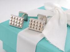 Tiffany & Co Silver Moderne Cufflinks Cuff Links Germany Box Pouch Ribbon Card