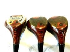 Wilson 4250 Strata-Bloc Golf Club Set of Woods 1 3 & 4 Steel RH Same Serial #'s