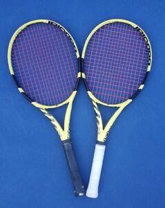 2x Babolat Pure Aero Tour 2019 L3 and L2 Tennis Rackets 100sq 315g 16X19