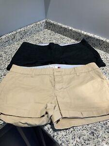 Women's/Junior's Lot Of 2 Pairs SO Shorty Shorts. Size 13. BLACK/Khaki. NWOT.
