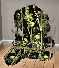 Deluxe Halloween Scene Setter Add-on Skeleton Invasion Party Decoration