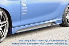 Rieger Seitenschweller Carbon-Look mit Schacht und Ausschnitt für BMW 1er F20
