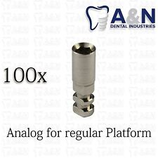 100 Analog for Regular Platform 3.75mm Dental Implant Prosthetics Hex Abutment