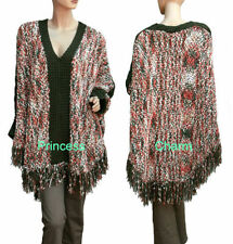 Cotton Plus Size Poncho Jumpers & Cardigans for Women