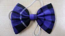 Purple Tartan Bow Tie On Elastic Fancy Dress Scottish Plaid Burns Night Hogmanay