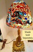 VTG Arts & Craft Deco Nouveau 2 Leviathan Entwined Lamp 1900-1940 Shade Optional