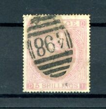 GB  Victoria  5s Rose  (SG 126)   Plate 2  used      (D1743)