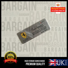 ENZO FERRARI SIGNED SPECIAL EDITION ALUMINIUM BRUSHED EMBLEM BADGE F1 355 458