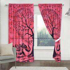 Indian heart tree cotton mandala curtain window door valance drapes hanging twin