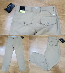 Nike Golf Flex Pants Slim Dri-Fit Khaki BV0276-297 Men's Size 30x30 NWTs $95