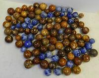 #12141m Vintage Group or Bulk Lot of 100 German Handmade Bennington Marbles