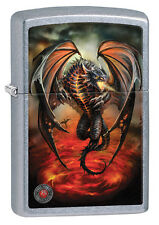 "Zippo Lighter ""Anne Stokes - Gothic Dragon"" No 29349 - New on Street Chrome"