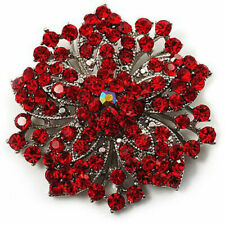 Crystal Flowers & Plants Crystal Costume Brooches & Pins