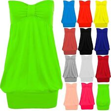 Women's Strapless Boobtube Knot Ladies Plus Size Party Casual Bandeau Top