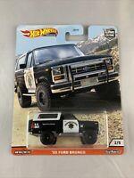 Hot Wheels Premium Car Culture - Wild Terrain 2/5 '85 Ford Bronco - 1:64 Scale