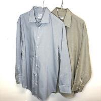 Lot 2 giorgio armani collezioni Button down dress shirts plaid checkered 16 16.5