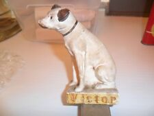 """1920/30 Victor Nipper Dog Statue Chalkware Original PROMO 4""""  WITH A REAL STORY"""