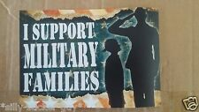 Large Bumper Sticker - I SUPPORT MILITARY FAMILIES - Army Navy Airforce Marines