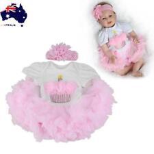 "22""Handmade Lifelike Reborn Baby Girl Doll Silicone Vinyl Newborn Dolls+Clothes"