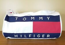 Tommy Hilfiger Duffle Bag Spellout Flag Logo Canvas